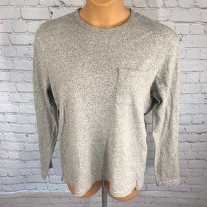J Crew Knit Goods Gray Long Sleeve Tops Cotton Tee